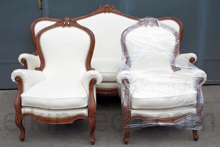 El kin antig edades muebles antiguos decoraci n for Juego de sillones para living
