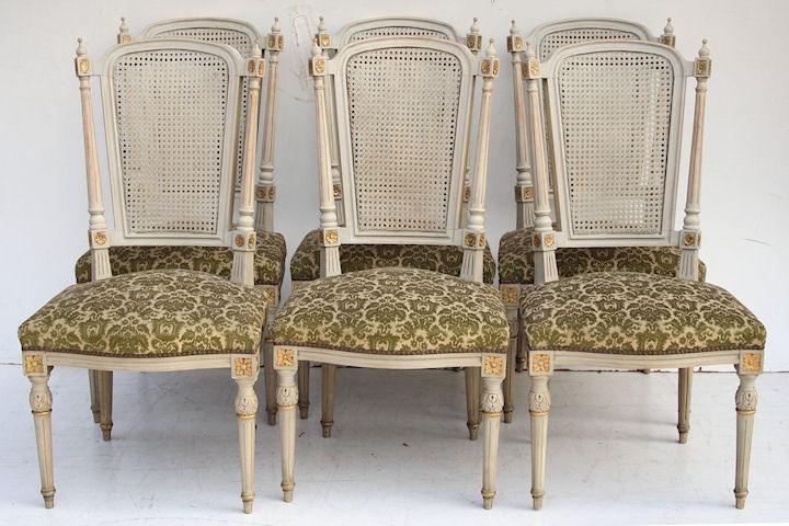 Silla estilo luis xvi beautiful pareja de sillones y seis sillas estilo luis xvi en madera - Sillas estilo luis xvi ...