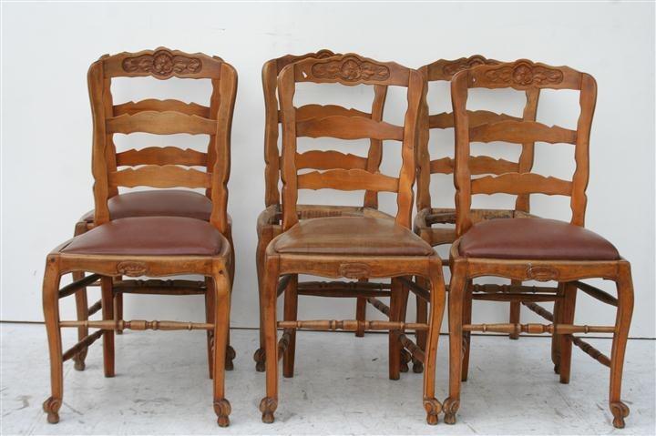 juego de sillas estilo provenzal tapizadas