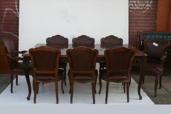 El kin antig edades muebles antiguos decoraci n for Sillones para mesa comedor