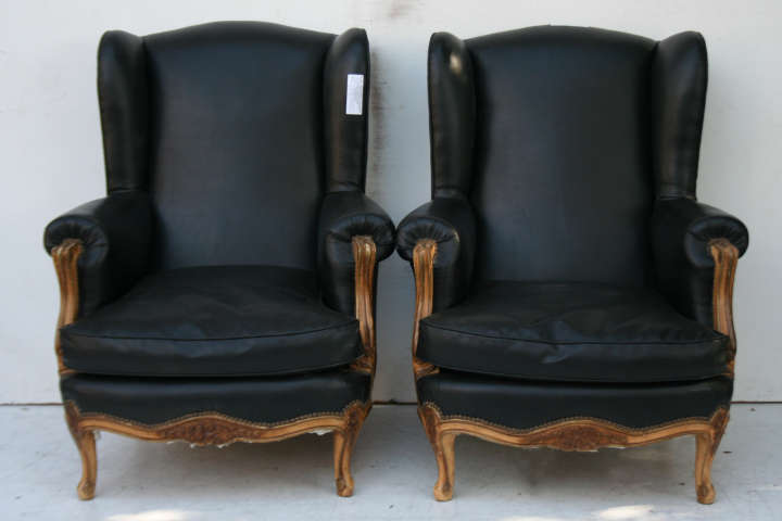 par de sillones estilo francs luis xv tipo bergere